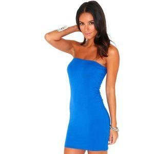 NEW!! MISSGUIDED Cobalt Blue Strapless Dress